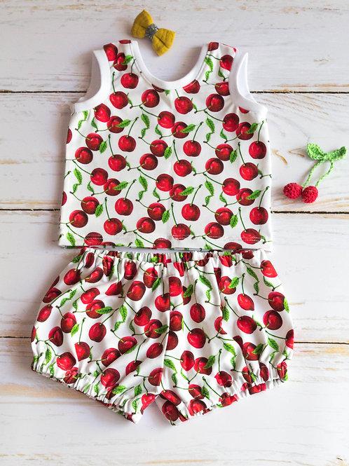 Ensemble bébé cerises bloomer marcel
