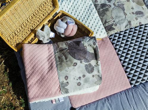 Couverture bébé ecoprint rose