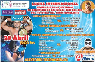 Lucha Libre a beneficio Hospital del Niño Morelense