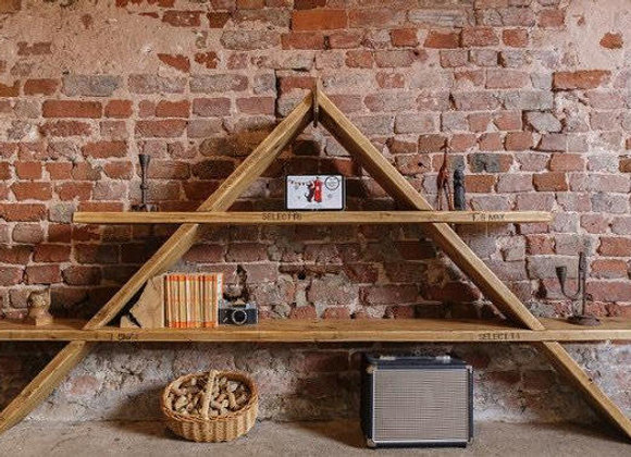 Reclaimed Pyramid shelving unit