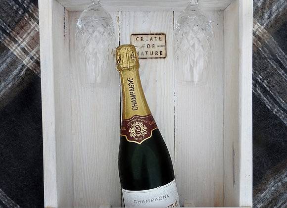 Personalised wine display case