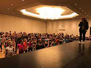 Casie teaching at dance convention