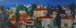 Jerusalem Rooftops from the Flat-dusk, 2013