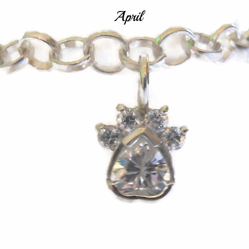 BirthPaws Charm Bracelet in Sterling Silver