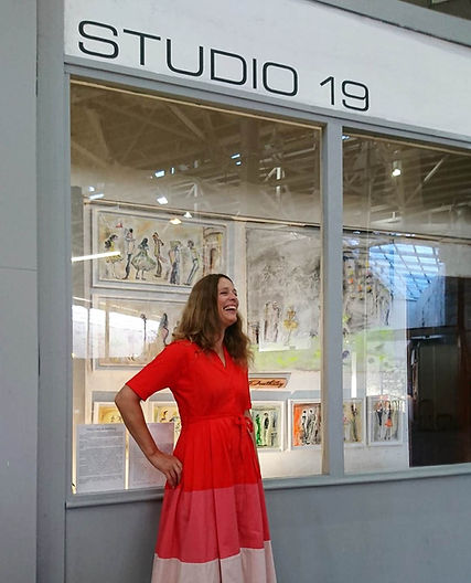 Outside Studio 19 gallery in St Austell,
