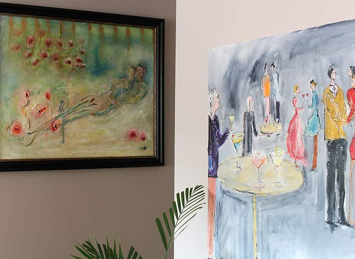 An image depicting the artists work hung