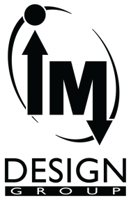 No Coast Film Fest sponsor logo: IM Design Group. I & M in oval. black.