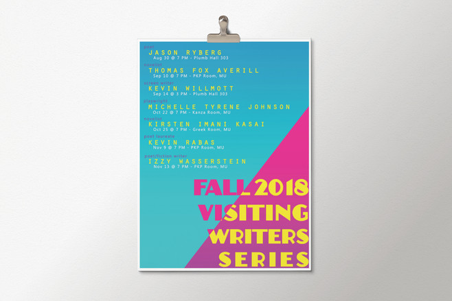 Fall 2018 Visiting Writers Series Poster