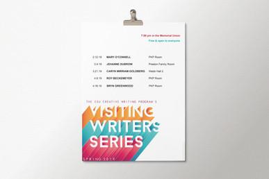 Spring 2019 Visiting Writers Series Poster