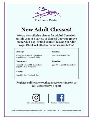The Dance Center Adult Classes