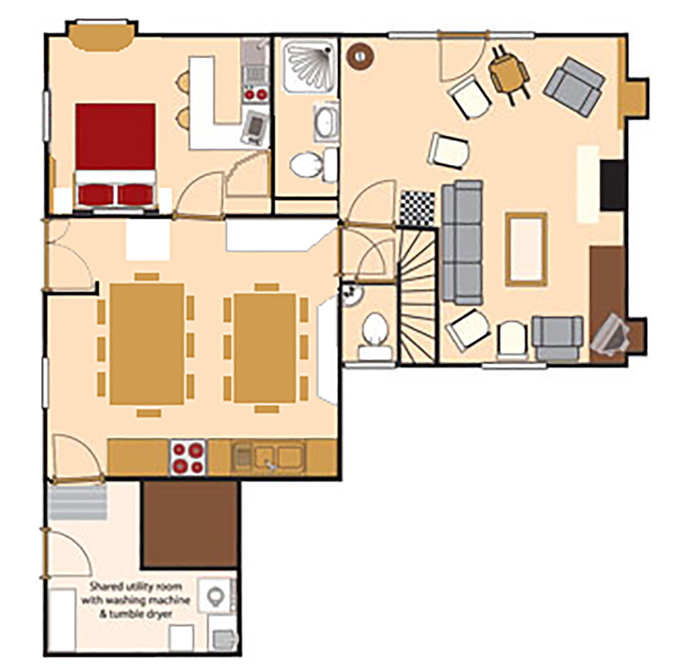 Ground floor plan (not to scale)
