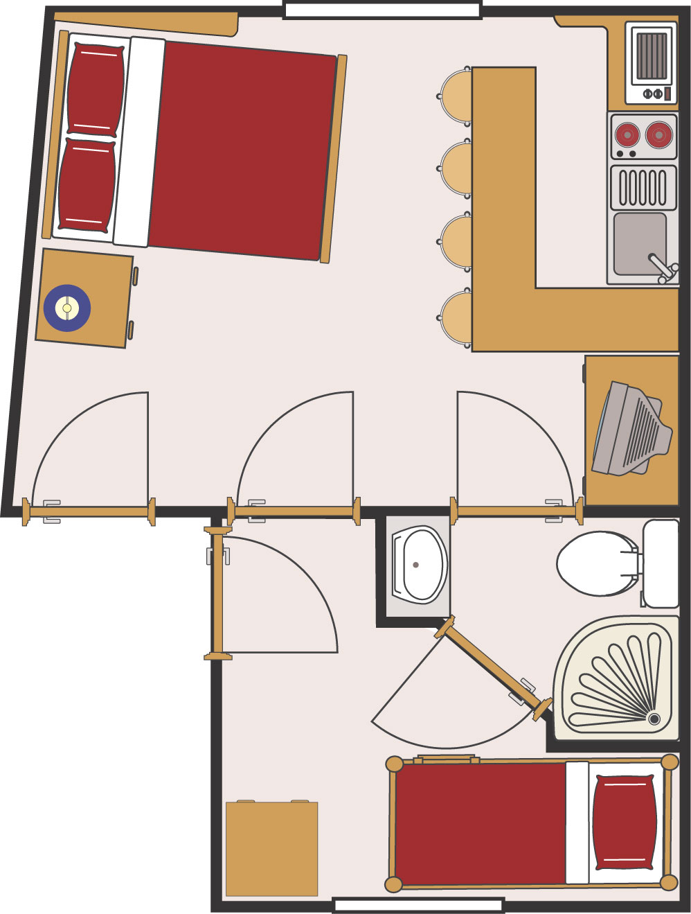 2nd floor plan (not to scale)