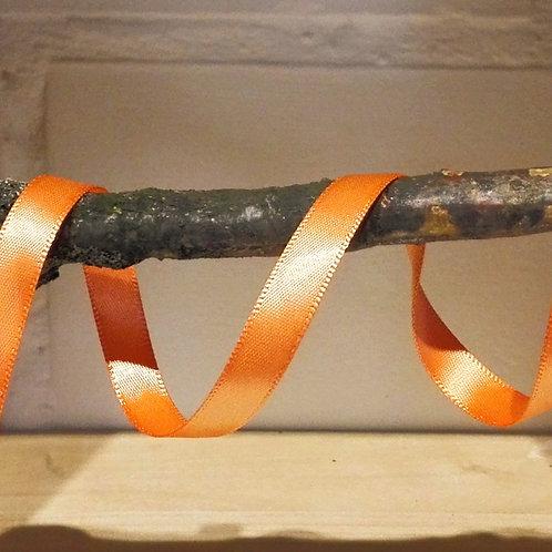satijnlint oranje - 10 mm x 25 meter