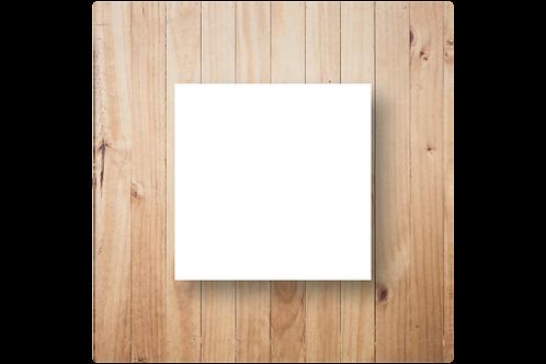 Blanco enkel vierkant (12x12cm)