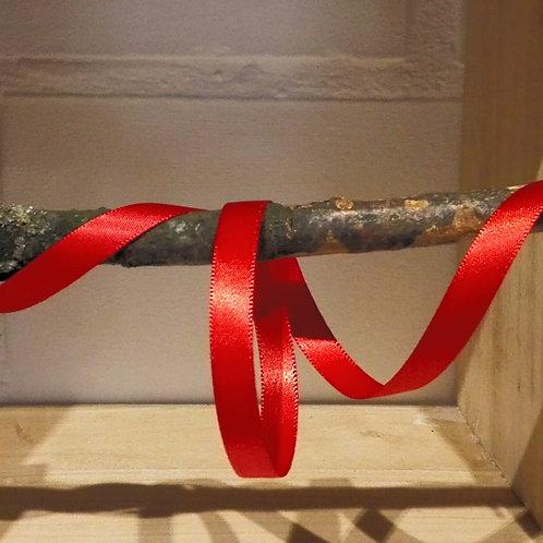 satijnlint rood - 10 mm x 25 meter