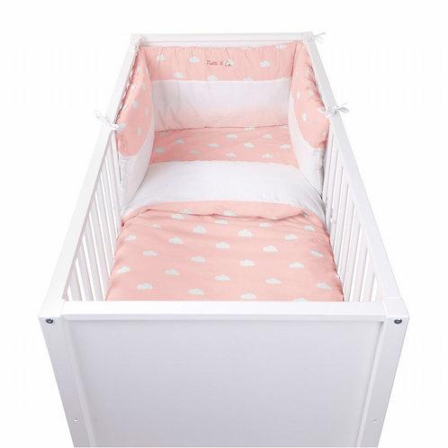 Bedbeschermer Snoozy Clouds | Cupcake Pink
