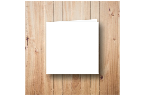 Blanco dubbel vierkant (12x12cm)