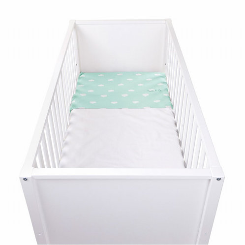 Laken Snoozy Clouds | Mint Blue