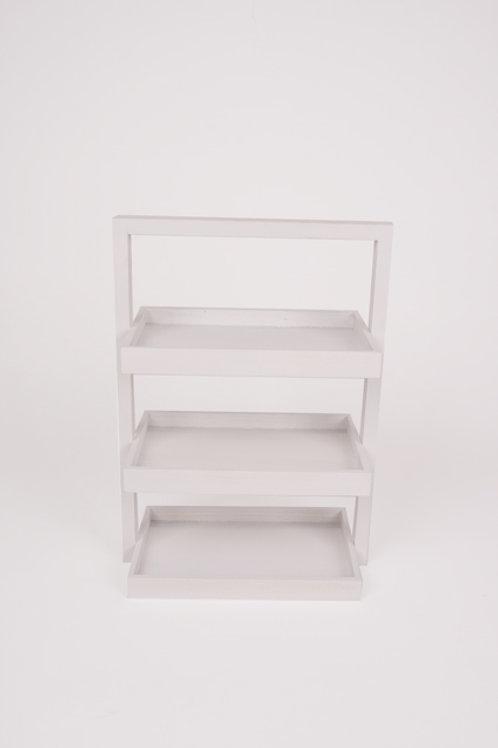 3-traps mand rechthoekig wit