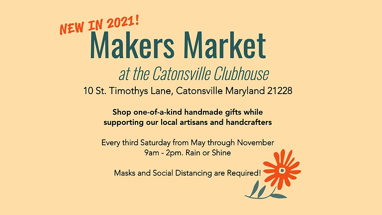 Makers Market - Vendor Registration May 15