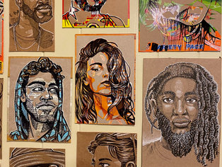 Covid Recyled Portraits 3