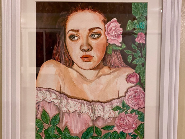 Artist: Lauren M. Elfring  Watercolor  I love working in watercolor and have been painting in this medium for about 10 years. I also embroider for my own enjoyment, and have yet to exhibit that work. I am an elementary art teacher and I'm working on my Masters in Arts Integration through Towson University.