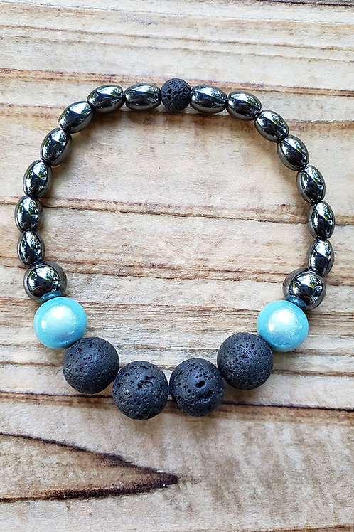 "Lava Stone Diffuser Bracelet - 7"""