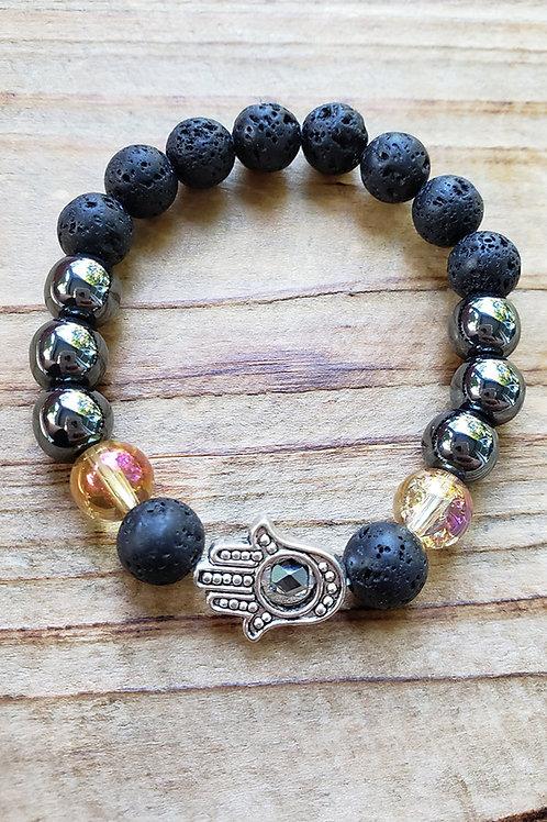"Lava Stone Diffuser Bracelet - 6"""