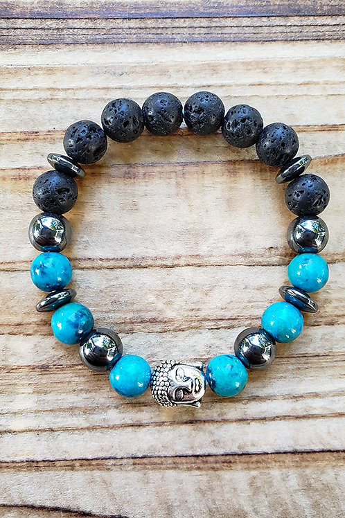 "Lava Stone Diffuser Bracelet - 6.5"""