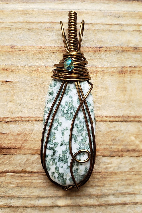 Tree Agate Wire Wrapped Pendant