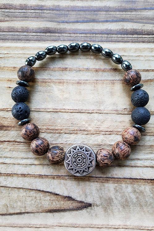 "Lava Stone Diffuser Bracelet - 9"""