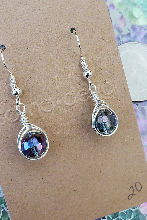 Faceted Sparkle Wire Wrapped Earrings