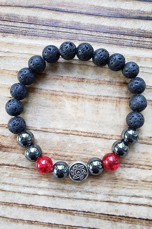 "Lava Stone Diffuser Bracelet - 7.5"""