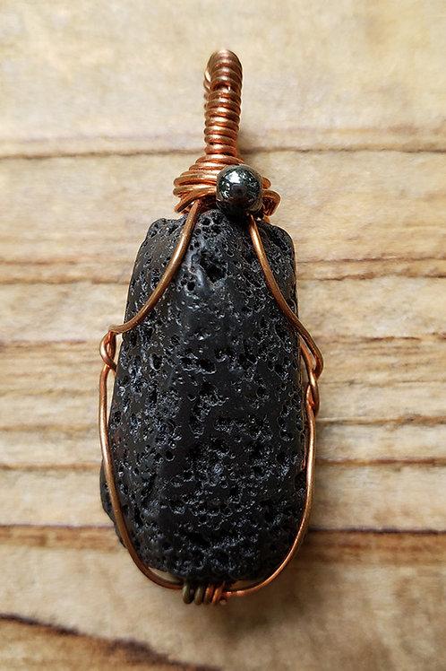 Lava Stone Wire Wrapped Diffuser Pendant
