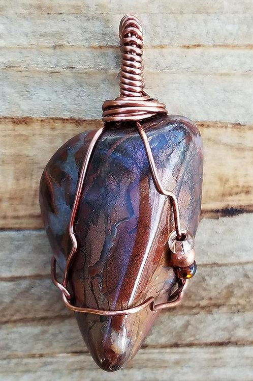 Brecciated Jasper Wire Wrapped Pendant