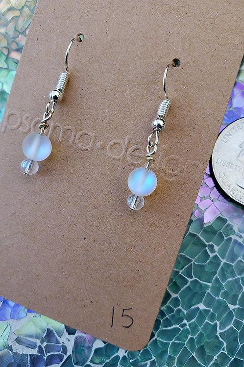 Mermaid Aura Glass Wire Wrapped Earrings