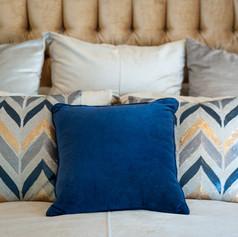 BLUE & GOLD MASTER BEDROOM