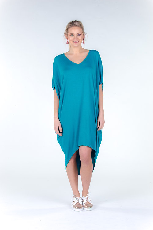 merrollee plus size womens clothing | hi low miracle dress - with