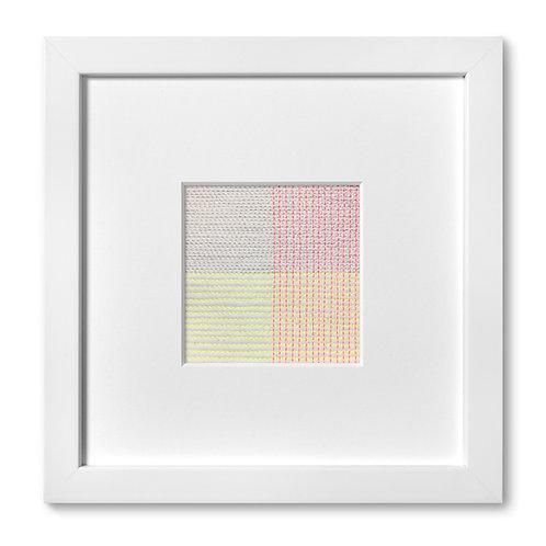 """Color Studies - Grid no. 16, 8""""x 8"""" (mat size)"""