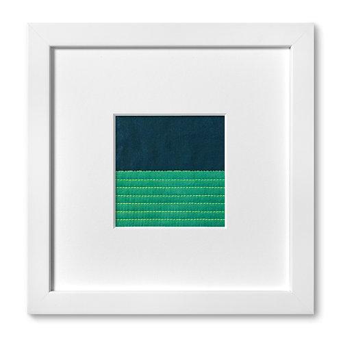 """Color Studies - Split Square no. 1, 8""""x 8"""" (mat size)"""
