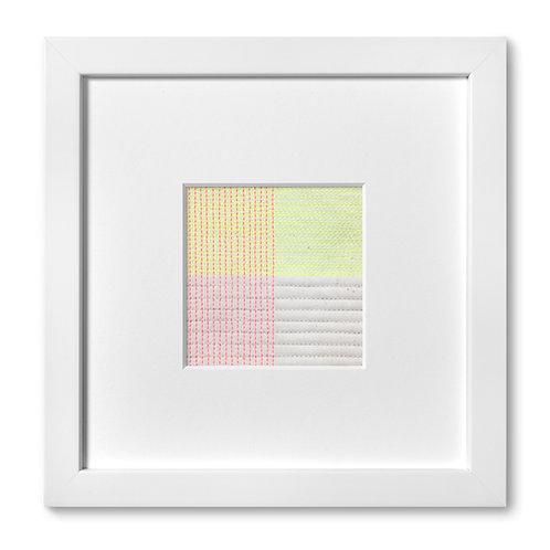"""Color Studies - Grid no. 13, 8""""x 8"""" (mat size)"""