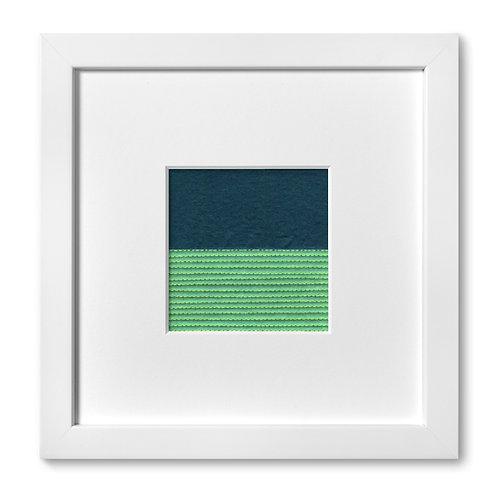 """Color Studies - Split Square no. 2, 8""""x 8"""" (mat size)"""