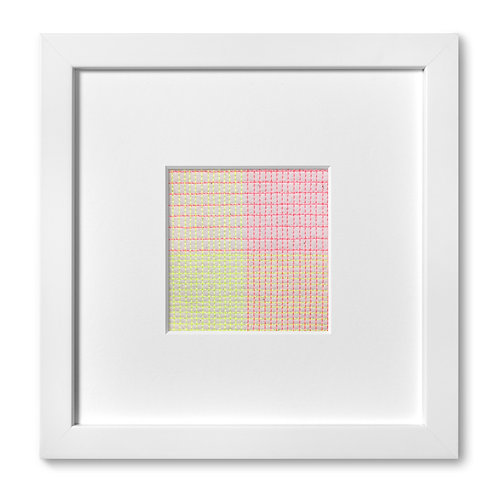 """Color Studies - Grid no. 17, 8""""x 8"""" (mat size)"""