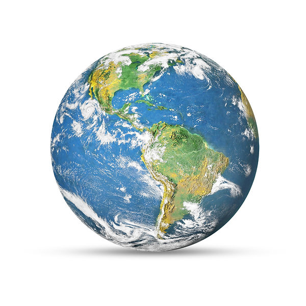 Earth globe isolated on white background
