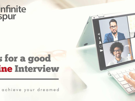 Tips for a GOOD job interview online.