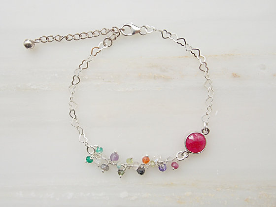 colored pearls and stones