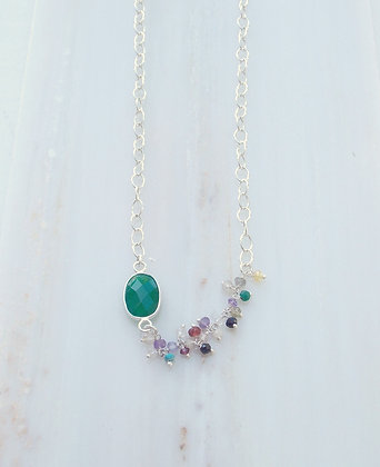 colored pearls and stones necklace