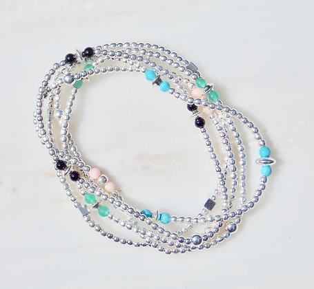silver pearls bracelet