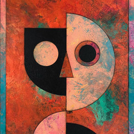 Lewis Deeney,U&NotU IV, 105x73cm,acrylic