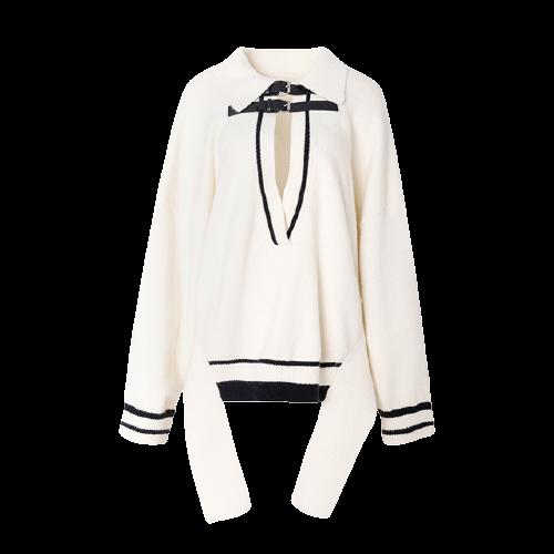 【ourhour】スクールGirl Vネックセーター